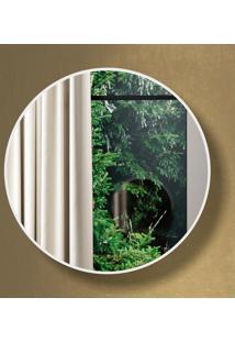 Espelho Redondo 100% Mdf Es11 60 Cm Of White - Dalla Costa
