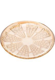 Conjunto De 6 Pratos De Sobremesa De Cristal Wolff Princess Champanhe 20Cm