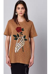 Camiseta Unissex Flamê Com Estampa Hering + À La Garçonne