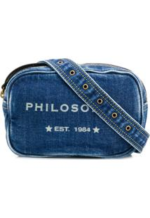 ... Philosophy Di Lorenzo Serafini Pochete Jeans Com Logo - Azul c58253b621d68