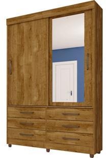 Guarda-Roupa Solteiro Com Espelho Chicago 2 Pt 6 Gv Ipê
