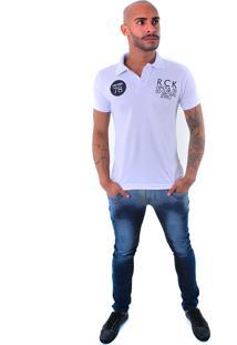 Camisa Polo Rockstar 78 Branca