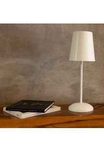Luminária De Mesa Manu - Marilena G - Branco Fosco