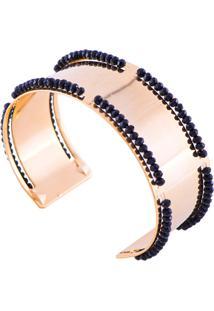 Bracelete Marcia Mello Com Cristais Black