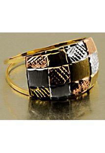 Corrente Em Ouro Malha Piastrine De 40 Cm - Cr12500