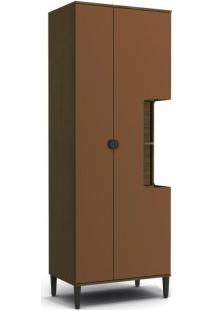 Paneleiro Kappesberg Po016 Pop 2 Portas Jacarandá Com Terracota