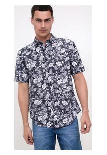 Camisa Com Estampa Floral Em Voile