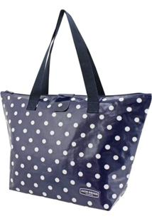 Bolsa Sacola Jacki Design Estampada Azul-Marinho - Kanui