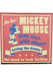 Quadro Mickey Vivendo O Sonho