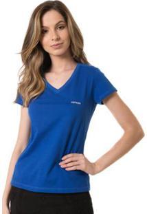 Camiseta Osmoze Gola V - Feminino-Azul
