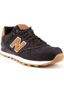 Tênis Masculino New Balance 574 Jeans Preto - 40