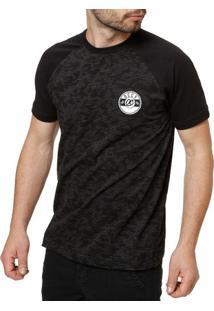 Camiseta Manga Curta Masculina Occy Preto