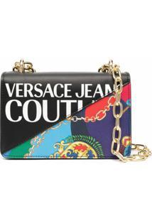 Versace Jeans Couture Bolsa Transversal Com Estampa Barroca - Preto