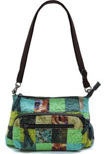 Bolsa Kelly Clover Em Patchwork Original Giulianna Fiori - Multicolorido - Feminino - Dafiti