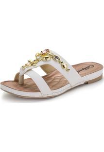 Sandália Feminina Flat Campesi - L6331 Branco 34