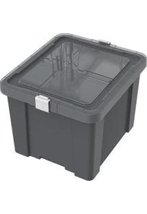 Caixa Organizadora Office- Cinza Escuro- 28,9X35,5X4Tramontina