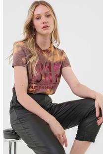 Camiseta John John Heart Brown Marrom - Marrom - Feminino - Algodã£O - Dafiti