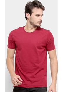 Camiseta Forum Básica Masculina - Masculino-Bordô