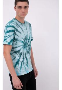 Camiseta Com Estampa Tie Dye E Bolso