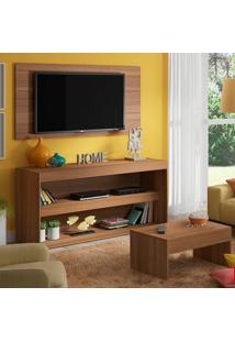 Rack Com Painel Para Tv Até 50 Polegadas E Mesa De Centro Kingston Nogueira - Madesa Móveis