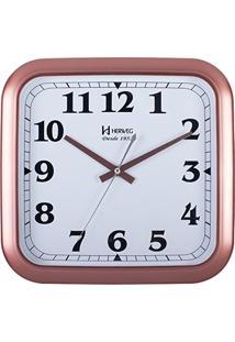 0bd5c33cb76 ... Relógio De Parede Analógico Moderno Quadrado Mecanismo Sweep Com Fundo  Branco Herweg Rosê