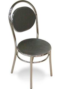 Cadeira Cromada George Preta