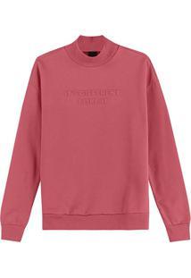 Blusão Rosa It'S Different Em Moletom