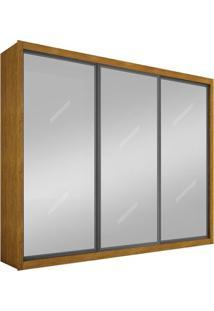 Guarda-Roupa Ravena Top Com Espelho - 3 Portas - 100% Mdf - Imbuia