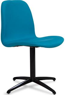 Cadeira Faria - Turquesa Com Base Giratã³Ria Preta