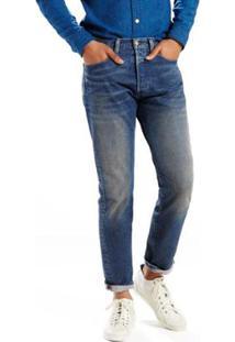 Calça Jeans Levis 501 Taper - Masculino-Azul
