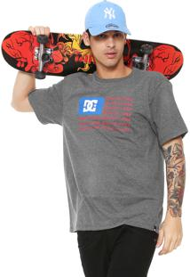 Camiseta Dc Shoes Patriot Cinza