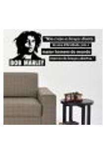Adesivo De Parede Frase Bob Marley - Pequeno