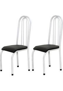Cadeira Assento Anatomico 2 Peças 00123 Branco Preto Archeli