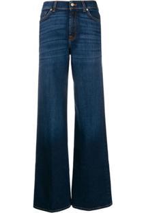 7 For All Mankind Calça Jeans Pantalona Lotta - Azul