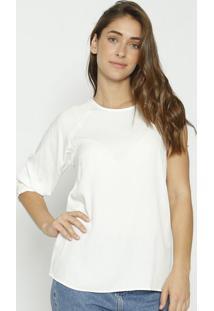 Blusa Lisa Assimétrica- Off White- Colccicolcci