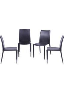 Or Design Jogo De Cadeiras De Jantar Glam Marrom 4Pã§S