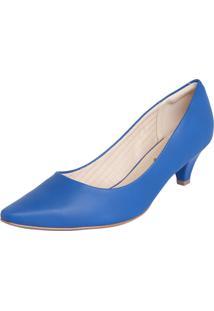Scarpin Piccadilly Bico Fino Azul
