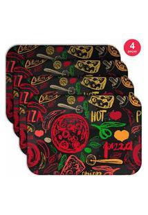 Jogo Americano Love Decor Wevans Hot Pizza Kit Com 4 Pçs