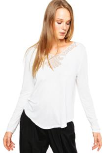 Blusa Enfim Decote Off-White