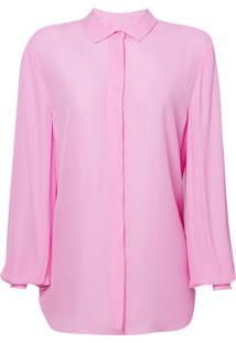 Camisa Le Lis Blanc Básica Lou Lou Rosa Feminina (Lotus, 40)