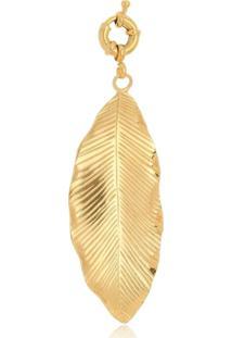 Pingente Le Diamond Folha Dourada - Kanui