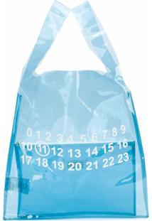 Maison Margiela Bolsa Transparente Estampada - Azul