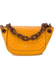 Simon Miller Bolsa Tiracolo Texturizada Com Alça De Corrente - Amarelo