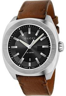 Relógio Gucci Masculino Couro Marrom - Ya142207