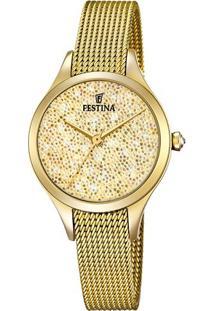 R  650,00. Vivara Relógio Feminino Dourado Aço Festina ... 6bfcb37aee