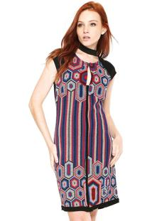 Vestido Desigual Curto Jane Preto