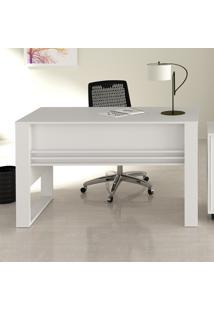 Mesa Para Escritório Tecno Mobili Me4146 Com Aplique/Porta Objetos