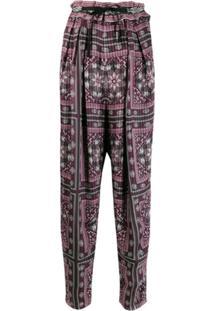 Isabel Marant Loose-Fit Printed Trousers - Rosa