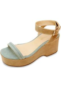 Sandália The Box Project Flatform Clear Feminina - Feminino-Bege