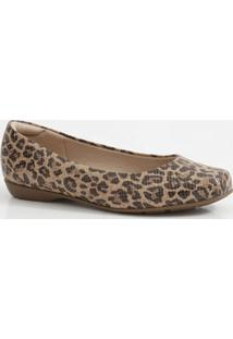 Sapatilha Feminina Estampa Animal Print Modare